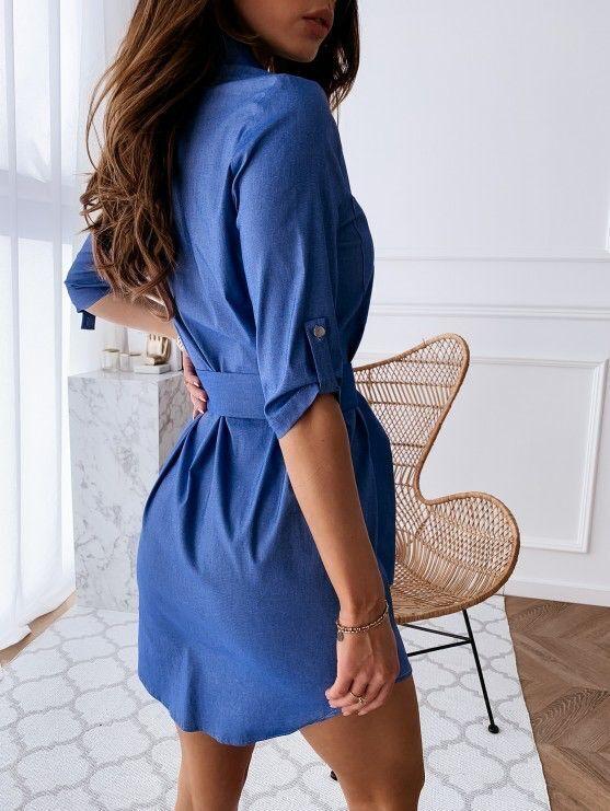 Джиновое платье-рубашка 46-48-50 размер во Владивостоке