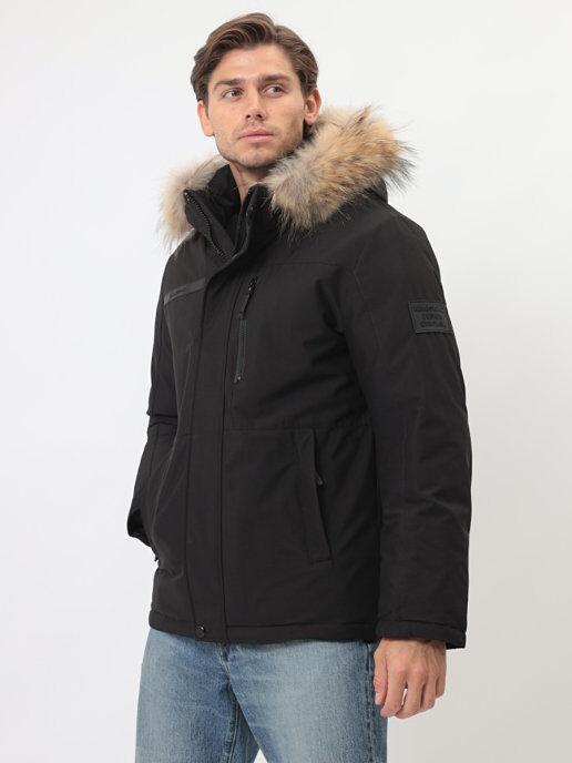 Мужская зимняя куртка с капюшоном от Kings Wind. Мембранная технология + Био-пух DuPont™